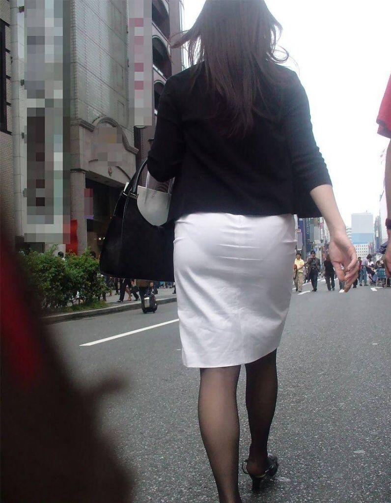 タイトスカート お尻 透けパン エロ画像【12】