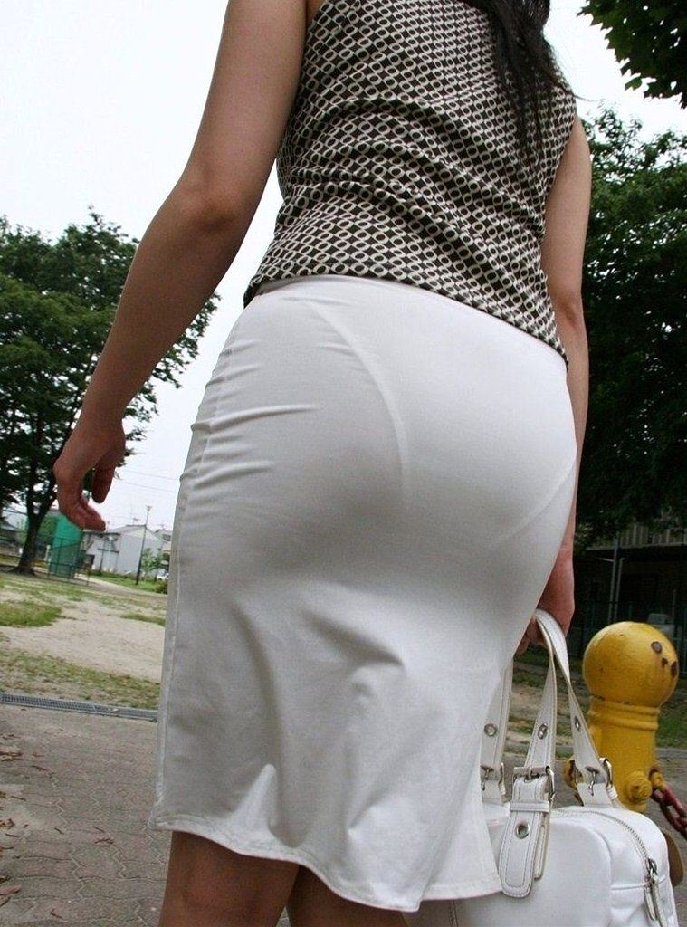 タイトスカート お尻 透けパン エロ画像【31】