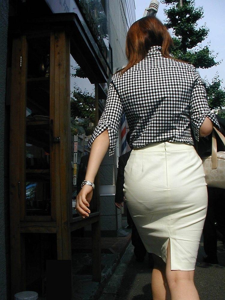 タイトスカート お尻 透けパン エロ画像【37】