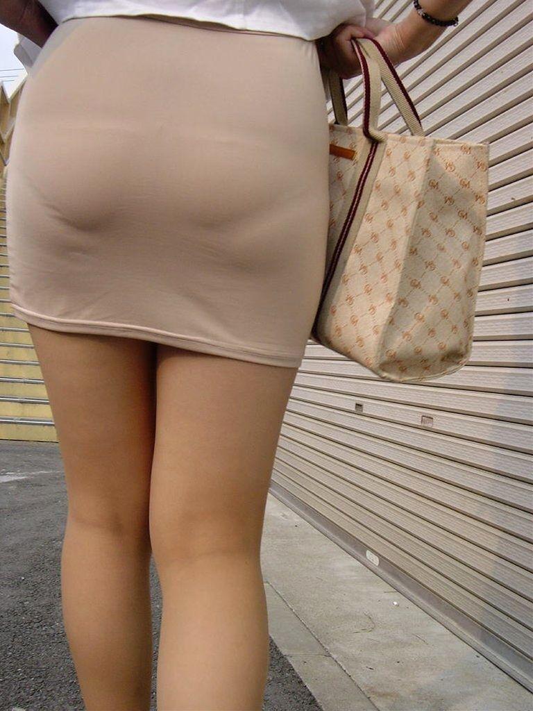 タイトスカート お尻 透けパン エロ画像【38】