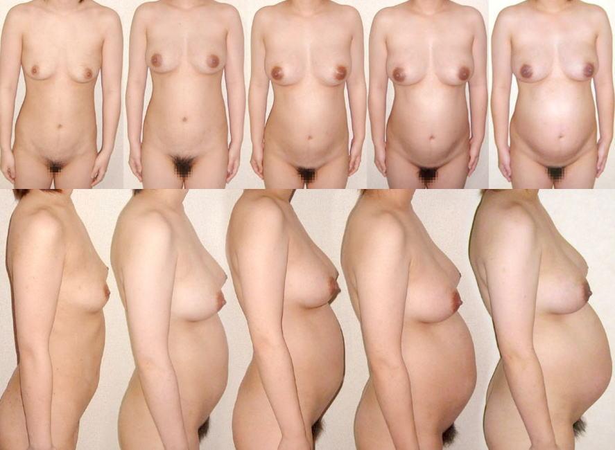 妊娠中 お腹 黒乳首 素人 妊婦 ヌード エロ画像