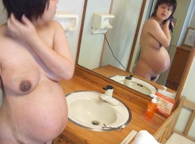 妊娠中 お腹 黒乳首 素人 妊婦 ヌード エロ画像【31】