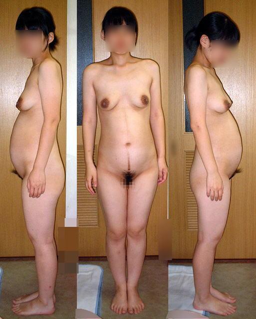 妊娠中 お腹 黒乳首 素人 妊婦 ヌード エロ画像【41】