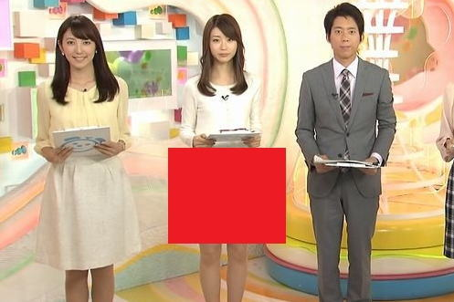 牧野結美アナ 「めざましテレビ」にパンツ透け透けで登場wwwwww