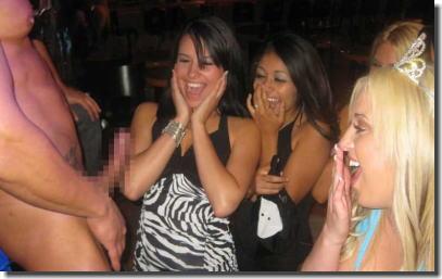 大きいチンコにびっくり!デカチンを見た女性の反応画像集 ④
