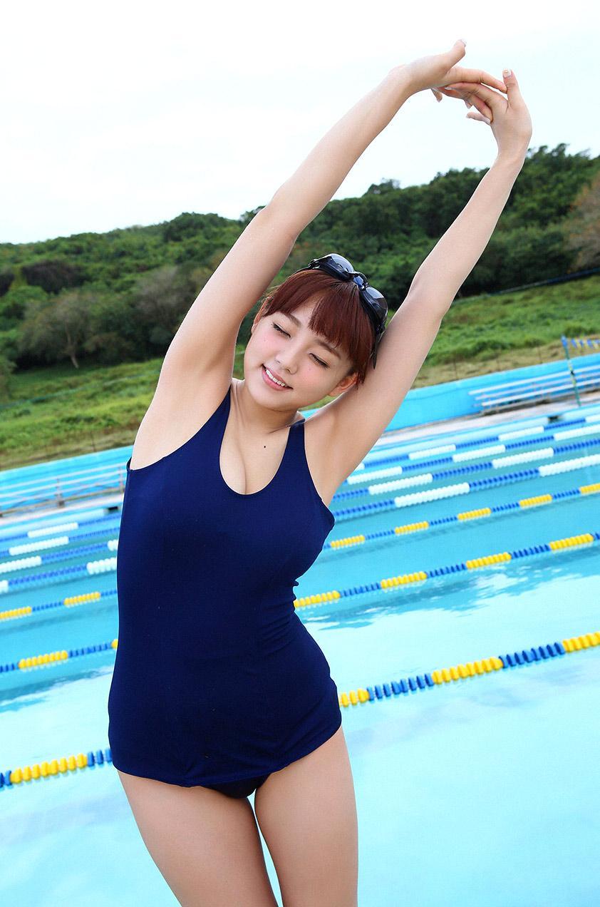 スクール水着 新型 旧型 スク水 美女 エロ画像【42】