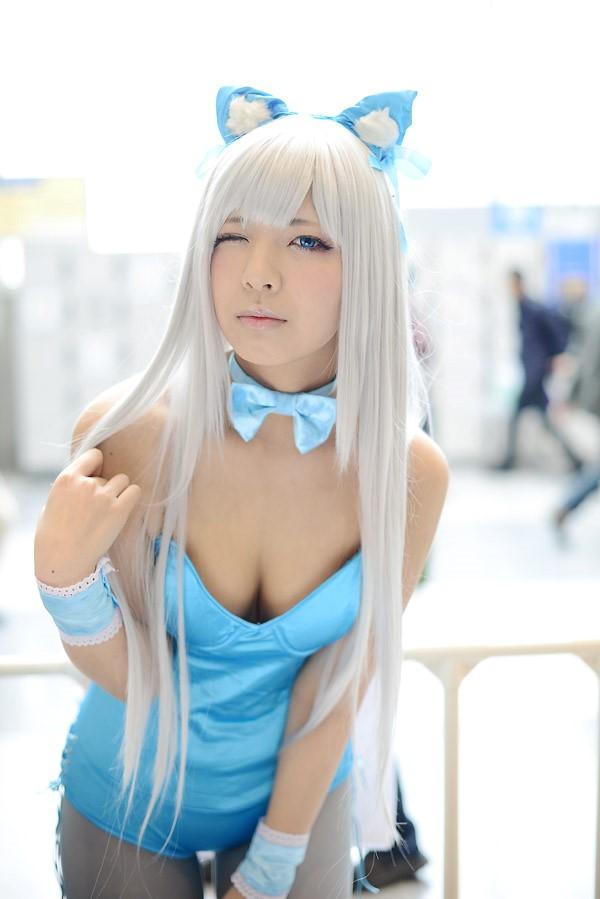 コミケ 胸チラ 乳首チラ コスプレイヤー 過激 胸元 エロ画像【45】