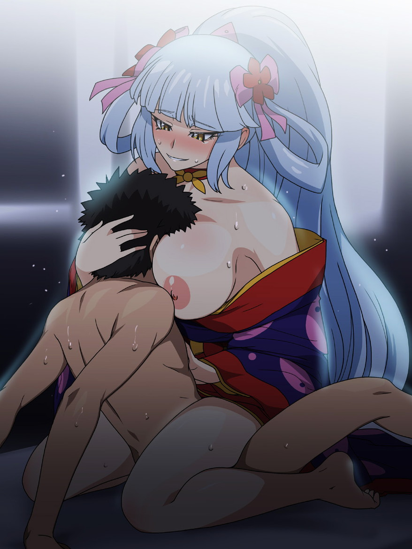 着物 振袖 セックス 姫始め 二次元 エロ画像【35】