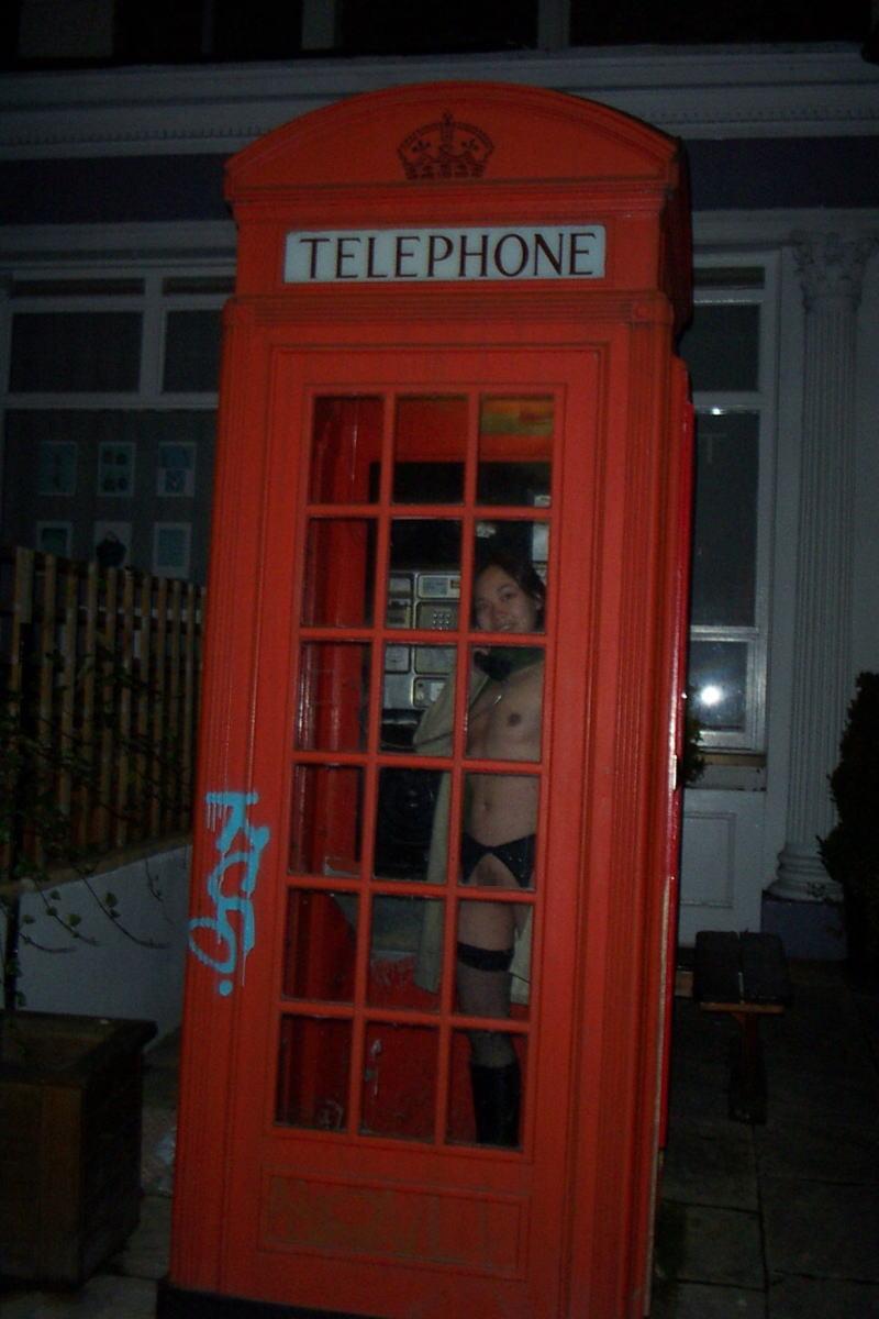 公衆電話 露出狂 電話ボックス テレフォンブース エロ画像【10】