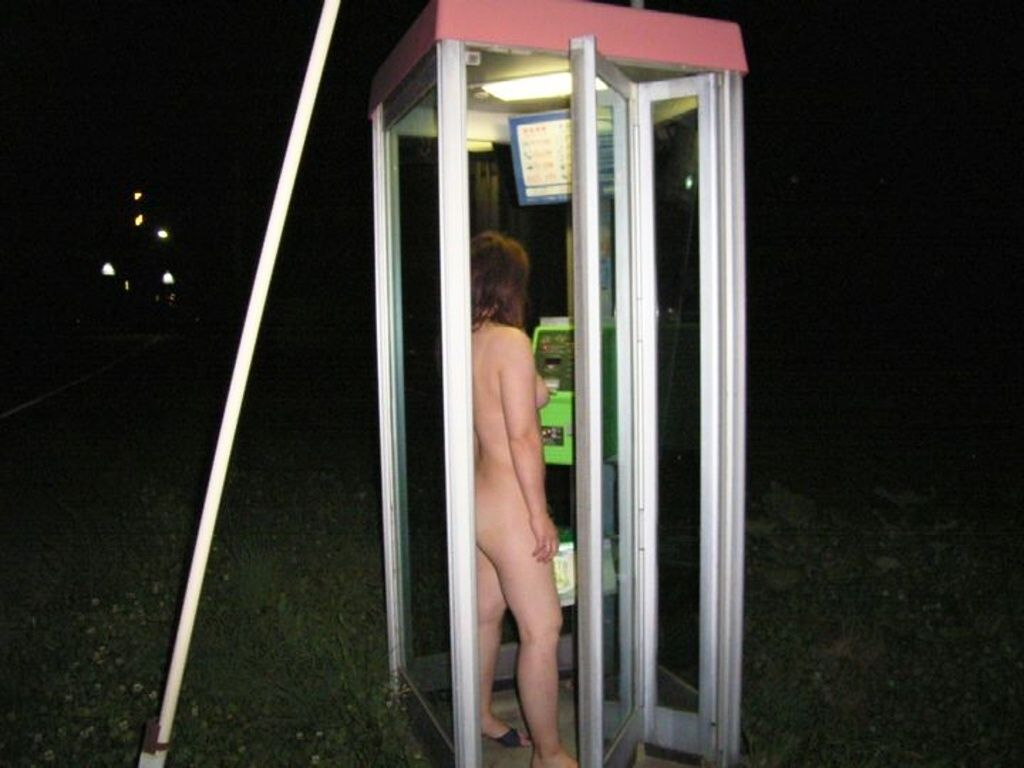 公衆電話 露出狂 電話ボックス テレフォンブース エロ画像【21】