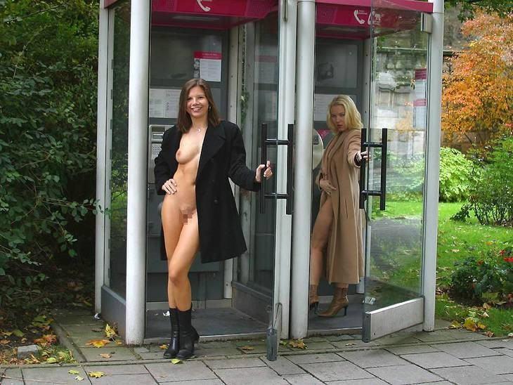 公衆電話 露出狂 電話ボックス テレフォンブース エロ画像【22】