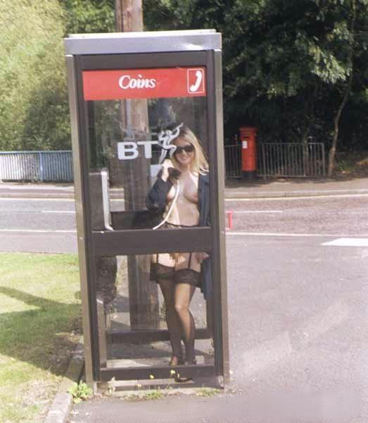 公衆電話 露出狂 電話ボックス テレフォンブース エロ画像【30】