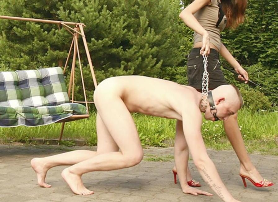 ドS女性がドM男性を全裸にして辱めるCFNMエロ画像
