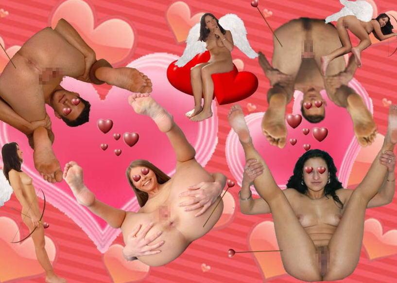 ハート 愛 海外 バレンタインデー セクシー エロ画像