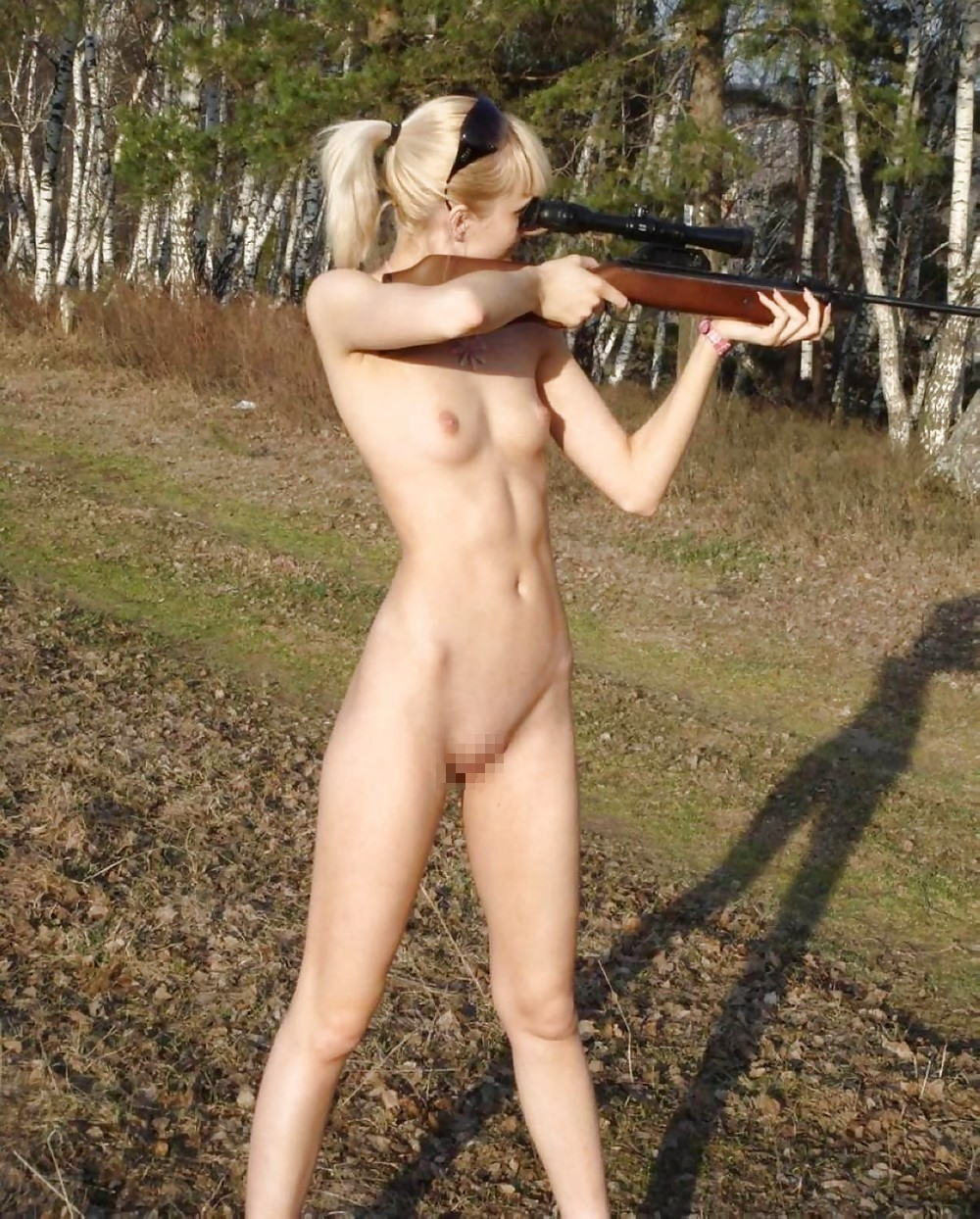 naked women fucking with guns