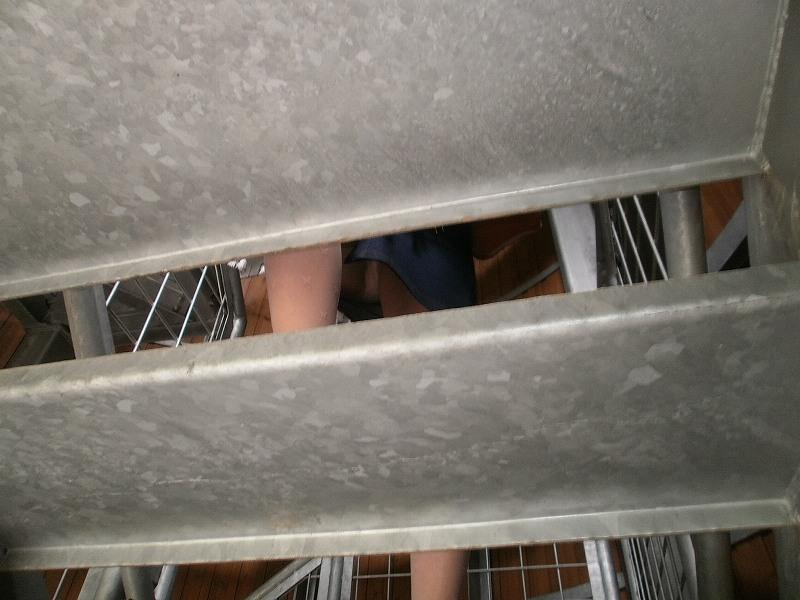 パンツ ミニスカ 階段 パンチラ エロ画像【31】