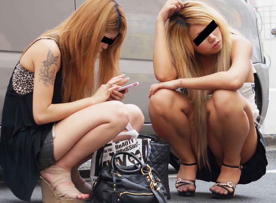 ギャル パンツ パンチラ 街撮り エロ画像