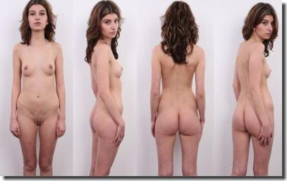 全裸女性を360°回転させたマルチアングルな直立ヌード画像集 ①