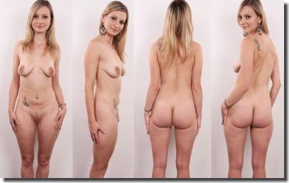 全裸女性を360°回転させたマルチアングルな直立ヌード画像集 ②