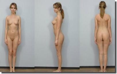 全裸女性を360°回転させたマルチアングルな直立ヌード画像集 ④