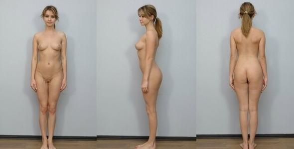 全裸 360° 回転 マルチアングル 直立 ヌード エロ画像【33】