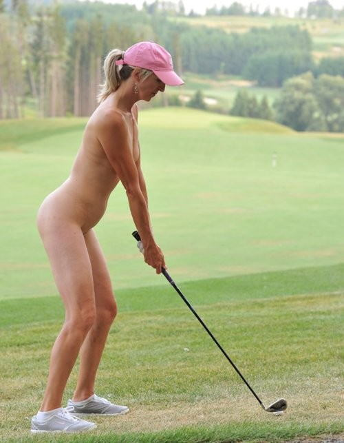 Naked Women Playing Golf
