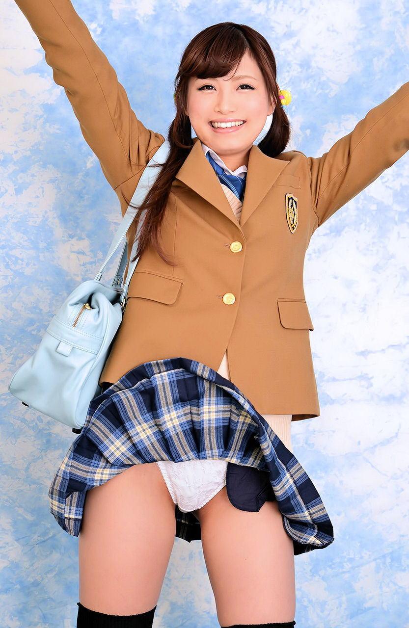 JK 笑顔 パンツ パンチラ スマイル エロ画像【34】