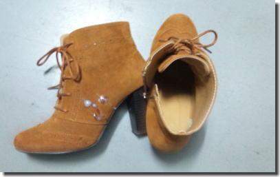 靴に精子をぶっかけたレディースシューズザーメン画像 ④