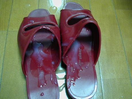 靴 精子 ぶっかけ レディースシューズ ザーメン エロ画像【2】