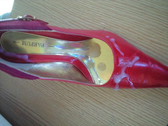 靴 精子 ぶっかけ レディースシューズ ザーメン エロ画像【30】
