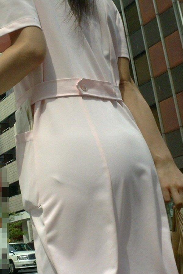 ナース お尻 パンティライン 白衣 透けパン エロ画像【5】