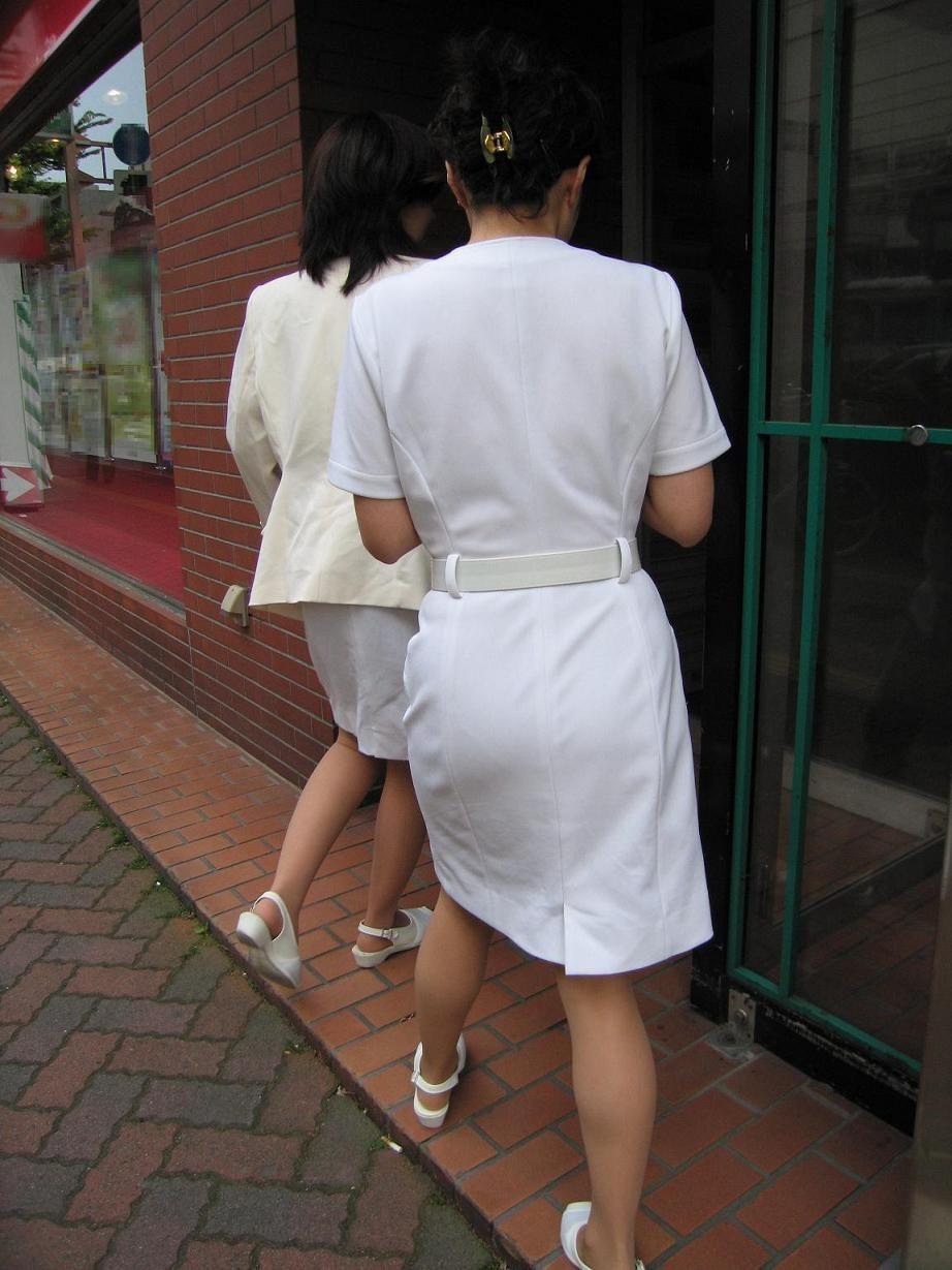 ナース お尻 パンティライン 白衣 透けパン エロ画像【31】