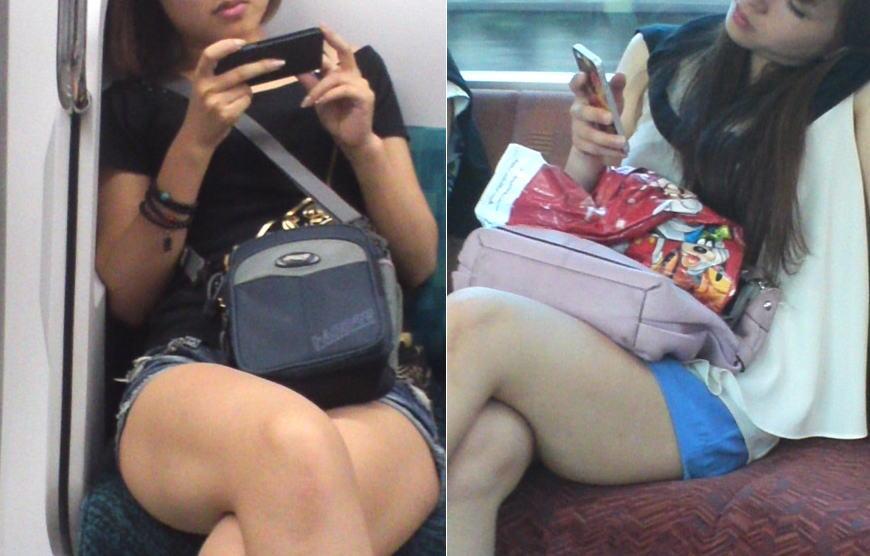 電車でスマホに夢中な女の子のふともも見るの楽しすぎwwwwwwww
