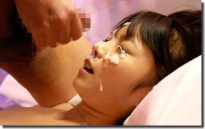 女性の顔を精子で汚した顔射ぶっかけエロ画像 ①