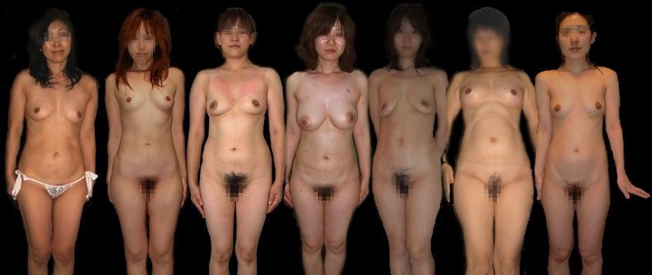 熟女 直立 ヌード おばさん 全裸 気をつけ エロ画像【38】