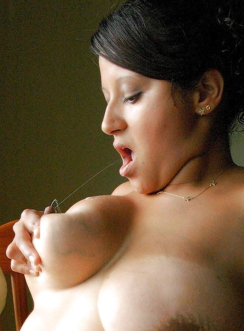Erotic lactating breast