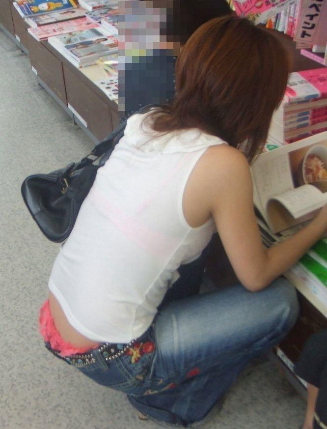 ヤンママ パンチラ 10代 20代 若い 人妻 パンツ エロ画像【46】