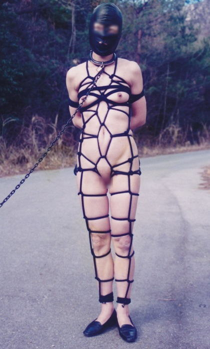 野外調教 メス犬 首輪 散歩 放置 エロ画像【27】