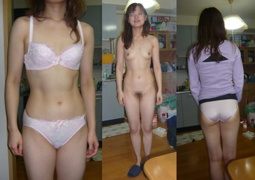 脱ぐ前 脱いだ後 着衣 脱衣 全裸 比較 ヌード エロ画像【13】