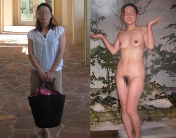 脱ぐ前 脱いだ後 着衣 脱衣 全裸 比較 ヌード エロ画像【29】