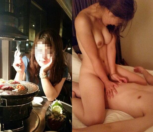 脱ぐ前 脱いだ後 着衣 脱衣 全裸 比較 ヌード エロ画像【33】