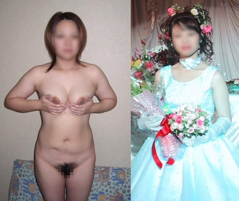 脱ぐ前 脱いだ後 着衣 脱衣 全裸 比較 ヌード エロ画像【35】