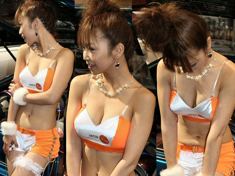 胸チラ 乳首チラ キャンギャル コンパニオン 胸元 エロ画像【34】