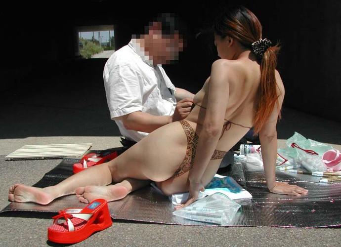 全裸 アート 水着 ボディペイント エロ画像【33】