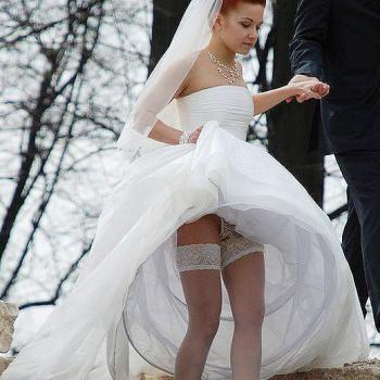 結婚式 パンチラ 外国人 花嫁 エロ画像【30】