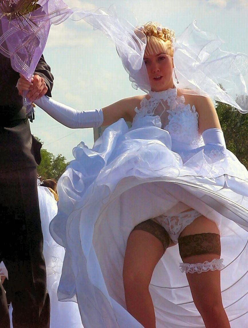 結婚式 パンチラ 外国人 花嫁 エロ画像【34】