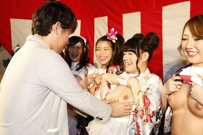 ストップエイズ AV女優 生乳 おっぱい募金 エロ画像【20】