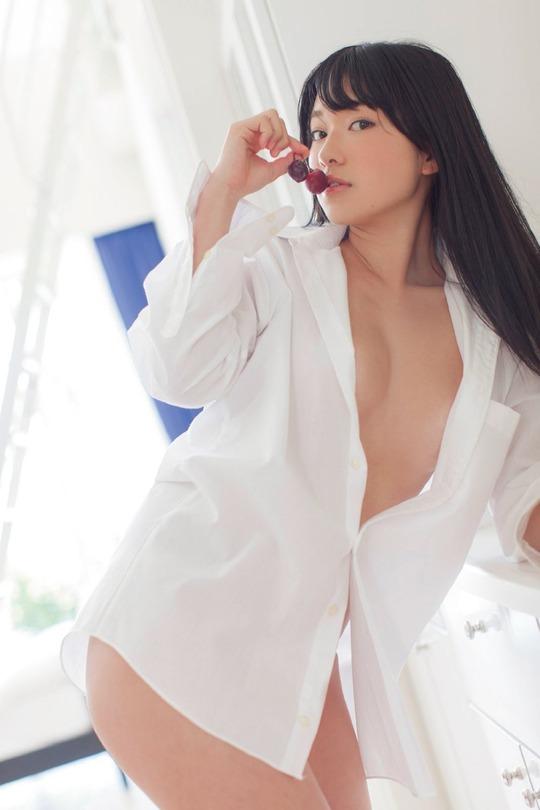 裸 白シャツ 一枚 ホワイト ヌード エロ画像【21】