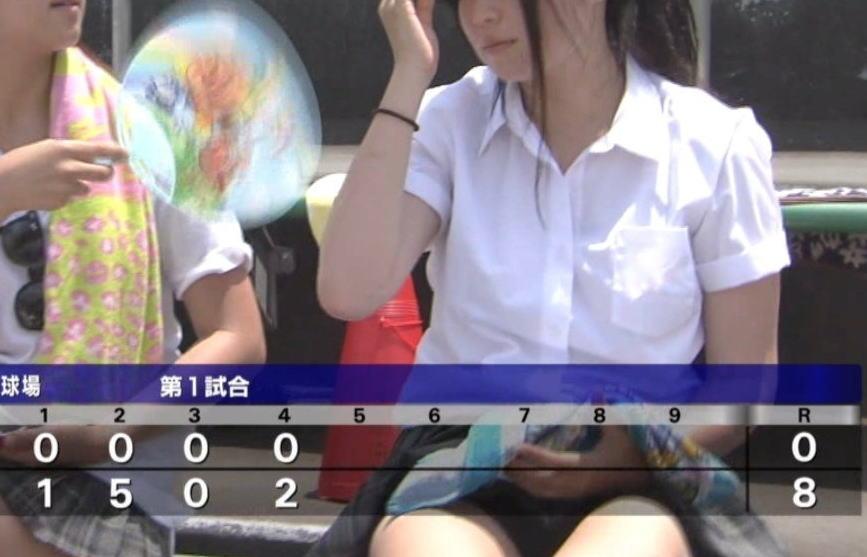甲子園で見かけた素人女子校生の生ワキ・パンチラエロ画像がシコリクオリティ激高www