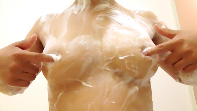 お風呂 泡ブラ 乳首 泡 おっぱい エロ画像【43】